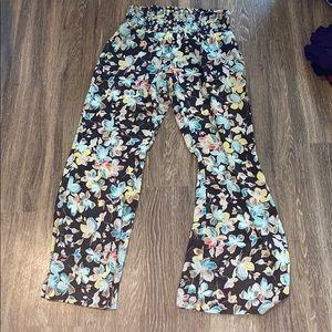 Floral Wide Legged Pants